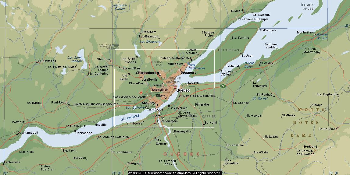 Amir - Québec Quebec Topographic Maps on